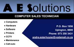 Springbok Computer sales and repairs   A E Solutions