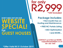 Website Special for Guest Houses | Springbok Accommodation, Business & Tourism Portal